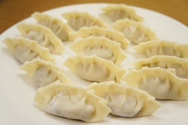 Pork and Mushroom Pan-Fried Dumplings | Close Encounters of the Cooking Kind