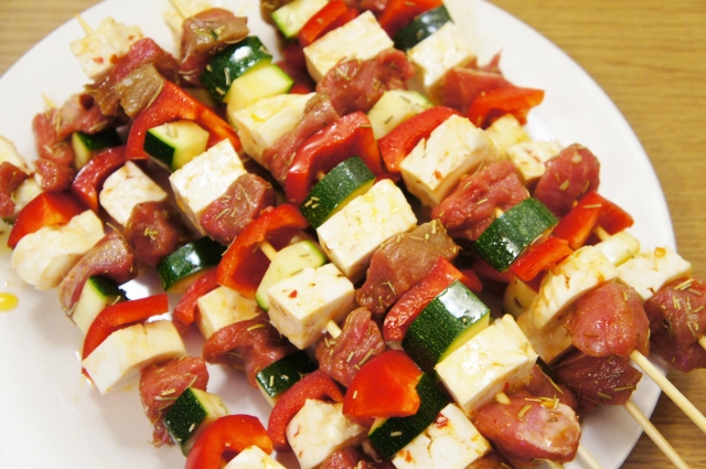Lamb & Haloumi Kebabs   Close Encounters of the Cooking Kind