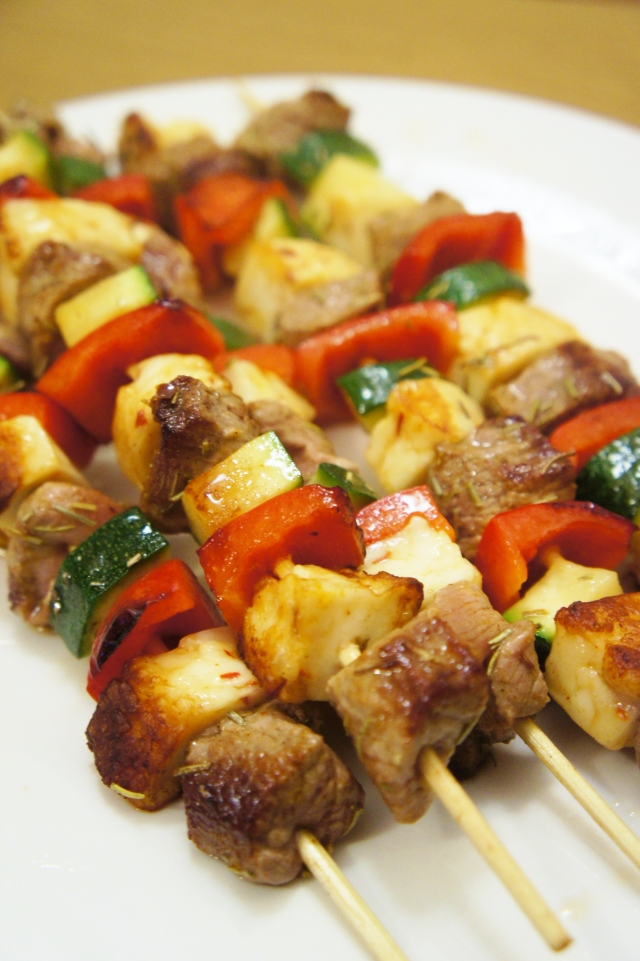 Lamb & Haloumi Kebabs | Close Encounters of the Cooking Kind