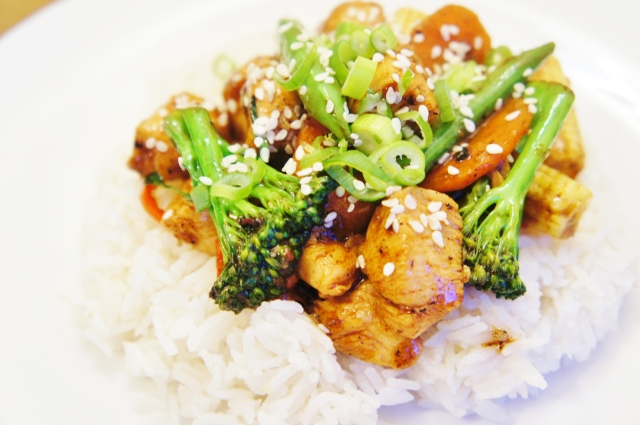 Marinated Chinese Chicken and Vegetable Stir-Fry | Close Encounters of the Cooking Kind