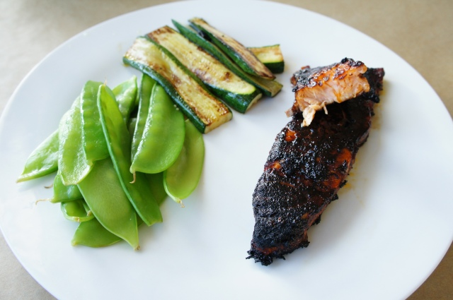 Brown Sugar & Chilli-Rubbed Salmon | Close Encounters of the Cooking Kind