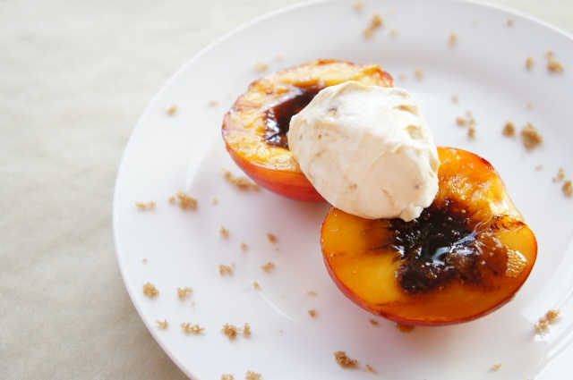Grilled Nectarines with Brown Sugar Mascarpone | Close Encounters of the Cooking Kind