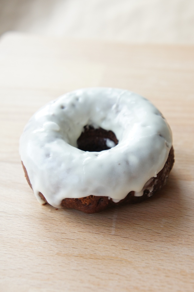 Chocolate Donuts with Vanilla Glaze | Close Encounters of the Cooking Kind