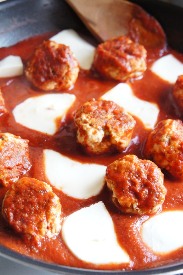 Turkey Meatballs in Tomato and Mozzarella Sauce | Close Encounters of the Cooking Kind
