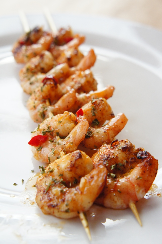 Sriracha Butter Prawn Skewers | Close Encounters of the Cooking Kind