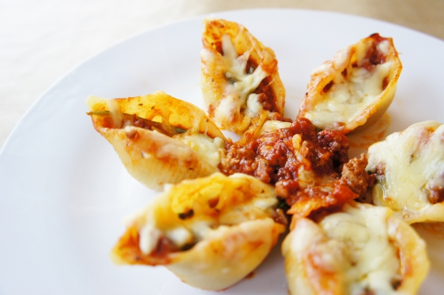 Bolognese-Stuffed Pasta Shells | Close Encounters of the Cooking Kind