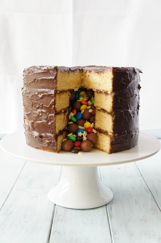 Piñata Cake | Close Encounters of the Cooking Kind