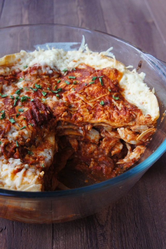 Chicken Enchilada Casserole | Close Encounters of the Cooking Kind