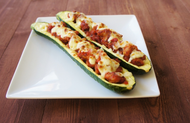 Sausage Stuffed Zucchini | Close Encounters of the Cooking Kind
