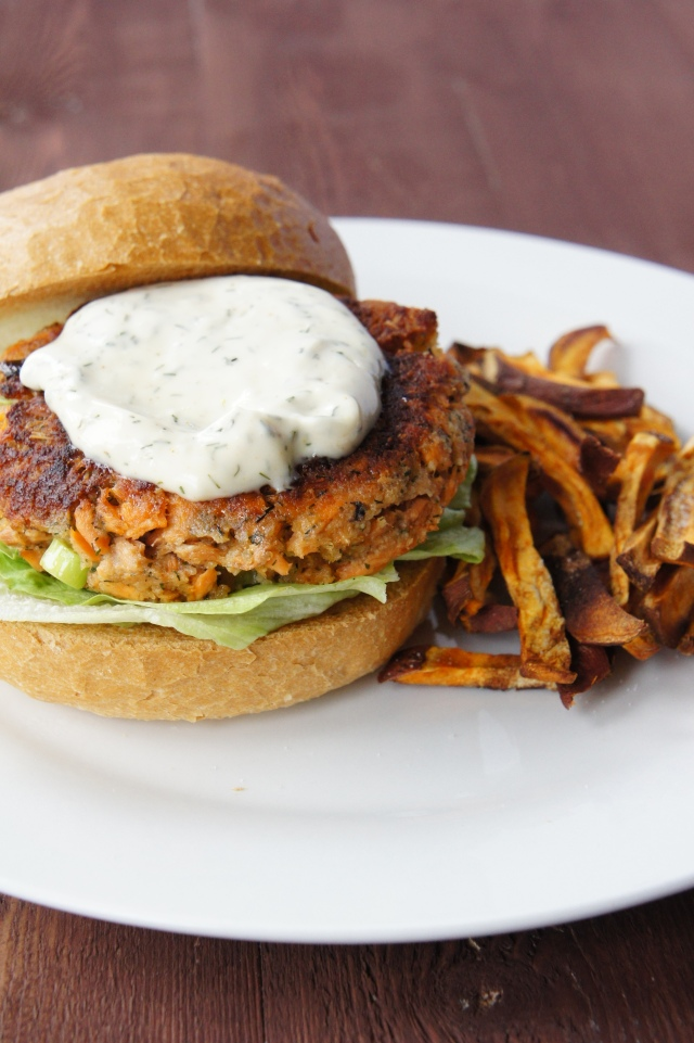 Salmon Burgers with Dill Mayonnaise | Close Encounters of the Cooking Kind