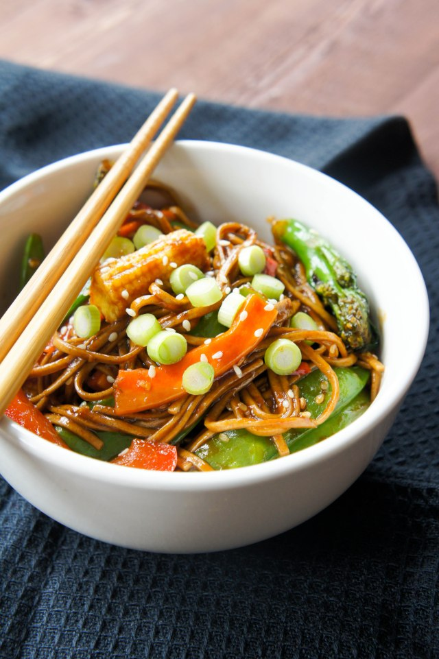 Soba Noodles with Vegetables | Close Encounters of the Cooking Kind